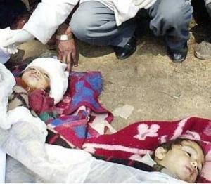kids kill by the Indian Army in the Kashimir Region