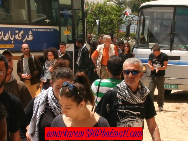 meeting in al qasa universtiy welcome the italian soalderity activitis -stay human