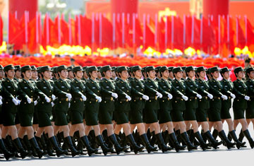 China Parade Its Military Mighty to Intimided America