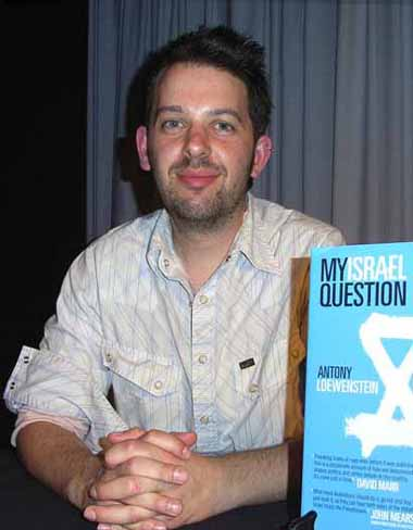 Antony Loewenstein during his presentation of 'My Israel Quesiton'