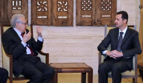 Bashar Al Assad and UN envoy