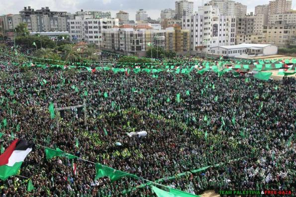 Gazawans celebrating Hamas 25 Anniversary December 09 2012