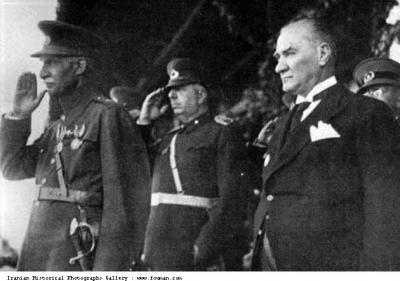 Reza Shah visiting Turkey June 2 1934