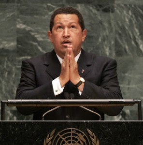Hugo Chavez UN photo press