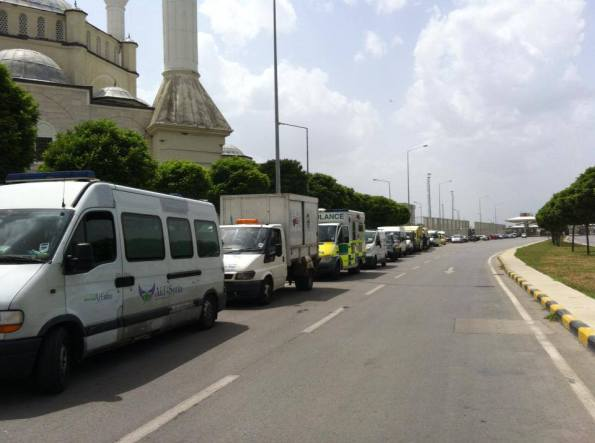 Ambulances arriving to Istanbul ready to depart to Syria