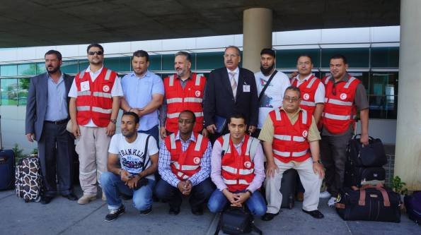 UK convoy members Libyan Red Crescent Omar Karem and Ebrahim Musaji