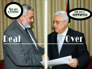 Hamas and Fatah signs unity deal. Israel don't agree and make the possible to destroy the unity deal.