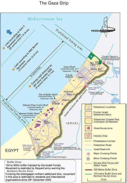 Gaza strip blockage