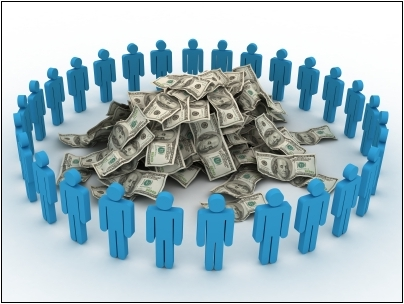 Crowdfunding is the practice of funding a project or venture by raising monetary contributions from a large number of people, typically via the internet. (photo/www.blackenterprise.com)