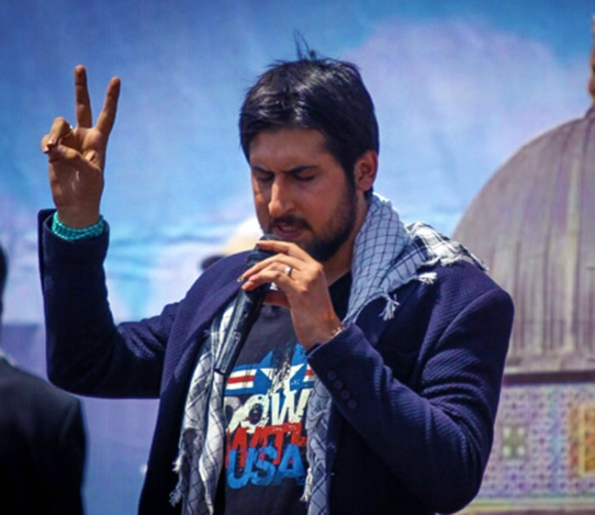 Hamed Zamani's live performance in Isfahan to mark the International Quds Day (July 25, 2014)