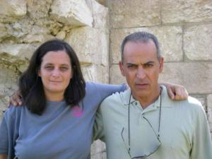 """Sami al Jundi (left) collaborated with writer and friend Jen Marlowe (right) on his autobiography, together crafting what one Israeli writer called """"the most authentic account of the Palestinian refugees' painful ordeal that I have ever read."""" Credit: Nation Books."""