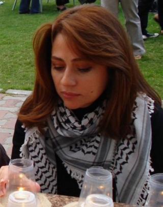 Julia Boutros in Dubai during One Candle Lit for Every Martyr Donations to be gathered on campus
