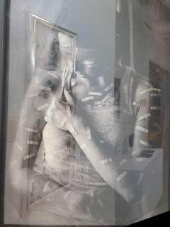 Domestic Violence a Personal Journey. A photo a a photo at Orange Coast College Gallery, on April 15, 2015. Costa Mesa Cali. Photo/Marivel Guzman