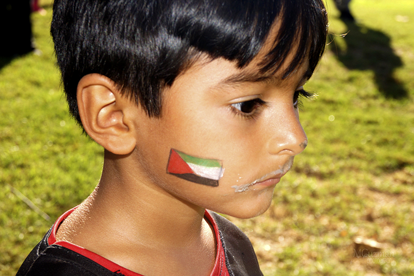 Amir Hammad-Guzman-Torres,3-year-old Palestinian, at the Gaza5k Orange County/LA Race, at Mile Square Park on October 24, 2015, donation drive for Mental Health Programs in Gaza, Palestine, sponsored by UNRAWA USA, with the participation of the Community of Palestinian supporters at Fountain Valley, Calif photo/Marivel Guzman