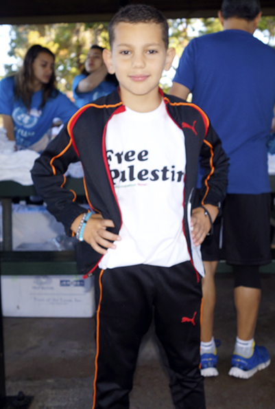 Laith N Hassan one of the smaller sponsor at the Gaza5k Orange County/LA Race, at Mile Square Park on October 24, 2015, donation drive for Mental Health Programs in Gaza, Palestine, sponsored by UNRAWA USA, with the participation of the Community of Palestinian supporters at Fountain Valley, Calif photo/Marivel Guzman