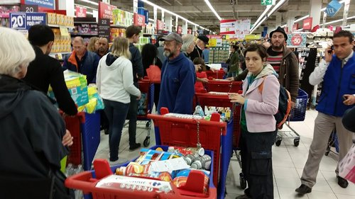 Operation boycott in French supermarket. Photo/Sahra Laurent